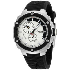 Alpina Avalanche Extreme Silver Dial Silicone Strap Men's Watch AL650LSSS3AE6