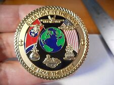 Navy Personnel Command Millington Tennessee We Move The Fleet USN Challenge Coin