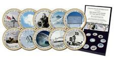 100 Years Discovery of South Pole Canada 2008 10x25 Centscoins enameled
