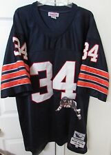NFL Chicago Bears 75-86 Walter Payton #34 Mitchell Ness Throwback Jersey Sz 58