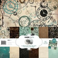 TIME MACHINE Collection 12X12 Scrapbooking Kit Kaisercraft Paper Crafting NEW