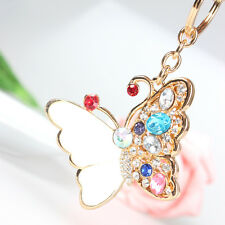 Shell Butterfly Lovely Pendant Charm Crystal Purse Bag Key Ring Chain Accessorie
