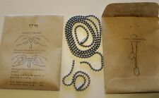 DOG TAG CHAINS WW2 VINTAGE 1945 US GENUINE ISSUE IN GI PACKAGE OF 2 CHAINS, NOS