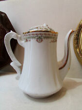ancienne cafetiere porcelaine de limoges PP decor de style louis XVI
