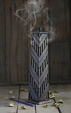 """Christmas Thanksgiving Gifts 12"""" Wooden Incense Stick Cone Burner Tower Holder"""