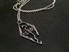 The Elder Scrolls V - Skyrim Style Dragon Pendant and Chain Necklace NEW!