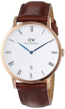 NEW DANIEL WELLINGTON DAPPER ST.MAWES BROWN LEATHER STRAP UNISEX WATCH 1100DW