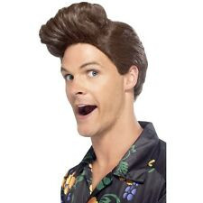 Mens Pet Detective Wig Fancy Dress Ace Costume 90's Ventura Brown Quiff Big Hair