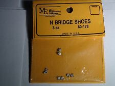 MICRO ENGINEERING #80-178 N SCALE BRIDGE SHOES 8 EACH BIGDISCOUNTTRAINS