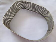 NORTON COMMANDO EARLY TYPE AIR FILTER PERFORATED SURROUND - STAINLESS 06-0816S