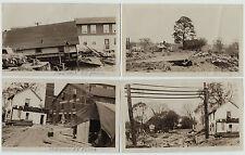 RARE - 4 Photos - 1955 Flood - Norwalk CT - Connecticut Disaster