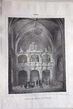 1838 MOULINS Tribune eglise Saint-Pierre Sagot Allier Desrosiers Auvergne