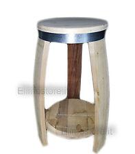 SGABELLO in legno da doghe botte 60 CM Barrique