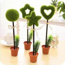 Green Grass Flower Pot Writing Pen Ball-point Pen Cute Stationery School Gift