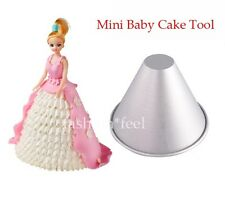 2.8'' Aluminum Cake Helix Tin Decorating Fondant 3D Taper Jello Pan Mould Mold#S