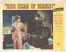 Ride Clear of Diablo 1954 11x14 Lobby Card #7