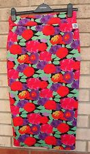 HOT MESS MULTI COLOR FLORAL BANDAGE TUBE BODYCON PENCIL SUMMER SKIRT M L