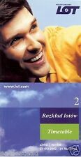 Airline Timetable - LOT Polish - 27/10/02 - Issue 2