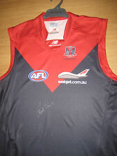 MELBOURNE - PAUL ROOS HAND SIGNED HOME JERSEY UNFRAMED + PHOTO PROOF &  C.O.A