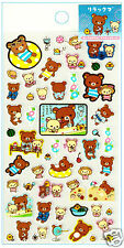 San-x Rilakkuma Summer Swim Kawaii Sticker Sheet