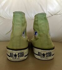 MADE IN USA DEADSTOCK VINTAGE CONVERSE GREEN CANVAS SIZE 4 us MEN