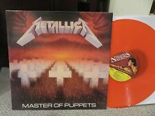 METALLICA MASTER OF PUPPETS TRANSPARENT RED COLORED VINYL LP  IMPORT LOWEST $$$
