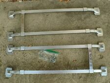 Vintage circa 1940's Matched Set of Art Deco Door Pushes / Pulls