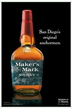 Makers Mark Anchor man 24 by 36 poster