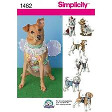SIMPLICITY SEWING PATTERN DOG CLOTHES IN 2 SIZES 1482