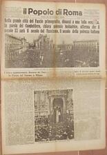 IL POPOLO DI ROMA 27 OTTOBRE 1932 TORINO MILANO PIAZZA DEL DUOMO MONZA LUCERA