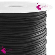 10 metri CORDONCINO NERO PVC caucciù 2 mm cordino corda black pvc cord