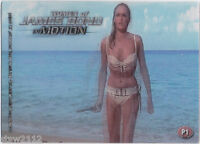 JAMES BOND THE WOMEN OF IN MOTION P1 LIMITED DISTRIBUTION PROMO CARD