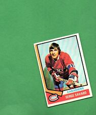 1974 Topps Hockey Set SERGE SAVARD Card NO. 53