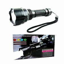 Super Bright Rechargeable CREE Q5-WC LED Flashlight 180 Lumens