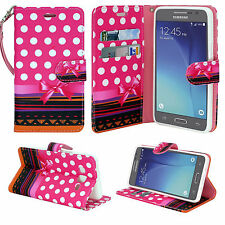 For Samsung Galaxy J3 / J3 V / Sol Hybrid Leather Wallet Pouch Case Flip Cover