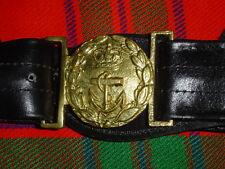 RNF | Royal Navy Force Officers Regulation Black Leather Sword Belt | LB21