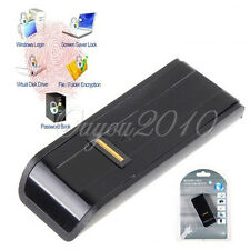 USB Biometric Fingerprint Reader Password Security Lock For Laptop PC Black
