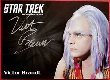 STAR Trek TOS 50th VICTOR BRANDT come TONGO Rad, Limited Edition AUTOGRAFO CARD