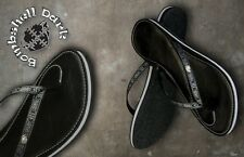 UNISEX NEW +BOX * COMBAT * ETHICAL DARK BOMBSHELL LEATHER FLIP FLOP SZ 6 RRP £35