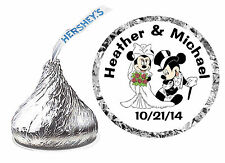 216 DISNEY MICKEY AND MINNIE WEDDING FAVORS HERSHEY KISSES KISS LABELS
