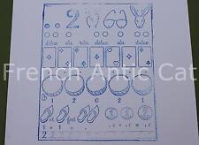 Ancien tampon scolaire métal mathématique calcul chiffre 2 compter 19*14cm AA051