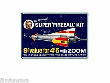 NOSTALGIA  TV21 COMIC FIREBALL XL5 KIT (Zoom lolly) ADVERT - JUMBO FRIDGE MAGNET