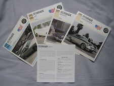 Studebaker Collectors Classic Car Cards