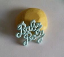 Baby boy word 34mm Silicone flexible mold for chocolate fondant clay & more