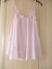 MYLA LUXURY SILK SANDY PEACH BABYDOLL MEDIUM UK10-12 NWT +AGENT PROVOCATEUR CARD