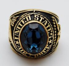 VINTAGE Gold Washed Sterling Silver UNITED STATES AIR FORCE Ring Size 10.5