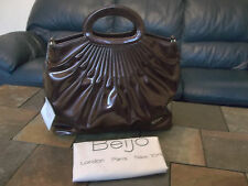 Beijo Luxe chocolate brown Take me with you tote shoulder dust bag NWT handbag