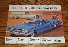 1960 Chevrolet El Camino Sedan Delivery Foldout Sales Brochure 60 Chevy