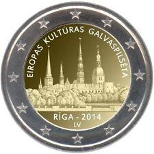 LETONIA  2 euro 2014 CIUDAD DE RIGA  - Latvia - Lettland - Latvijas