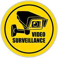 "Video Surveillance Security Sign Store Shop Vinyl Sticker Decal 4.5""X4.5"""